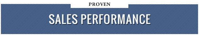 Proven Sales Performance
