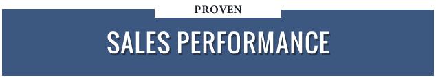 Proven Sales Performance